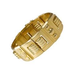 1940s French 18 Karat Gold Link Bracelet