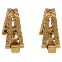 French Stirrup Cufflinks 18 Karat Gold Circa 1940