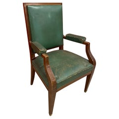 1940s French Art Deco Armchair in the Style of André Arbus