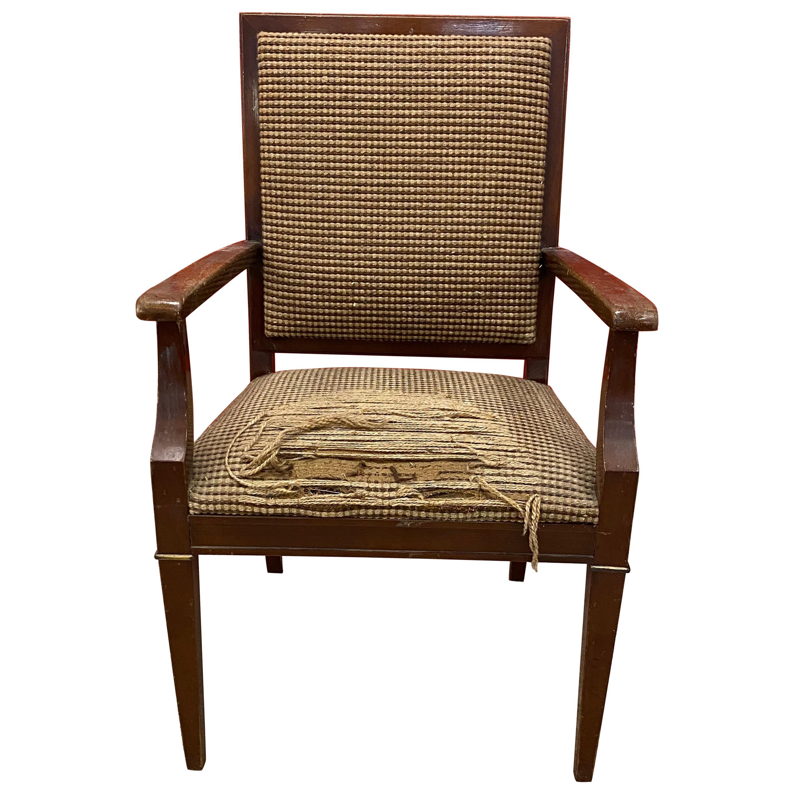 Decoene Freres , 1940s French Art Deco Armchair