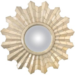 1940s French Art Deco Sunburst Mirror