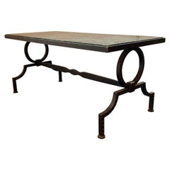 1940s French Gilbert Poillerat Coffee Table