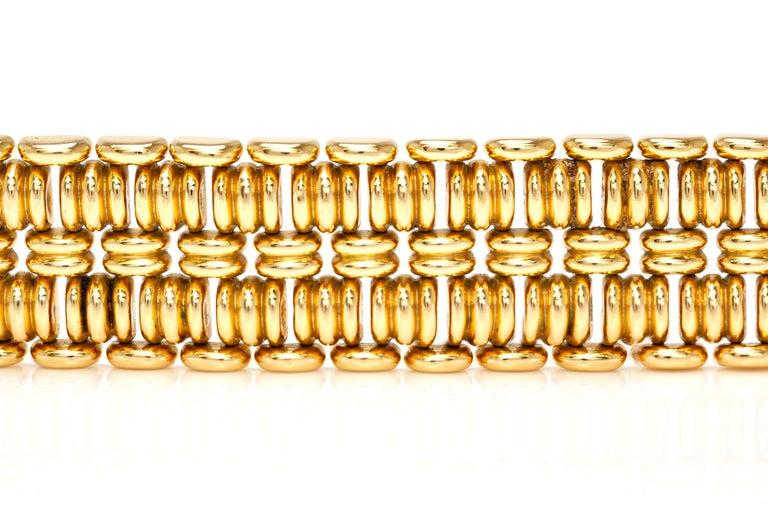 Women's or Men's 1940s French Gold Bracelet For Sale