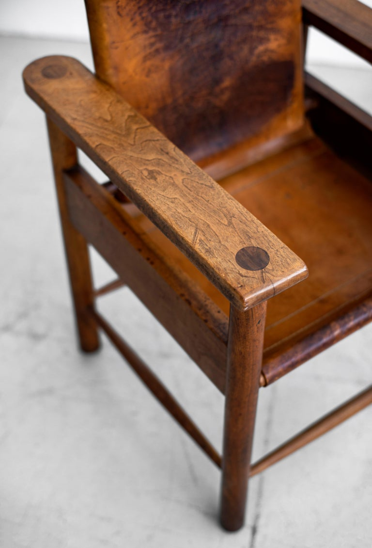 1940s French Leather Chairs For Sale 6