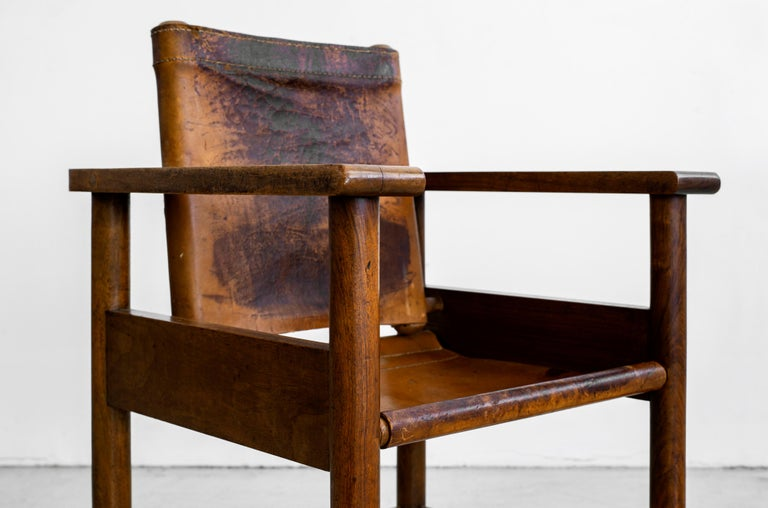 1940s French Leather Chairs For Sale 7