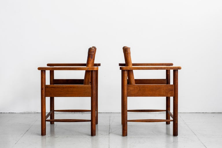 1940s French Leather Chairs For Sale 9