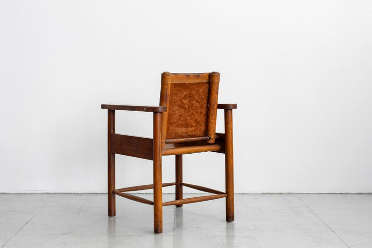 1940s French Leather Chairs For Sale 2