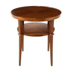 1940s French Mahogany Round Side Table