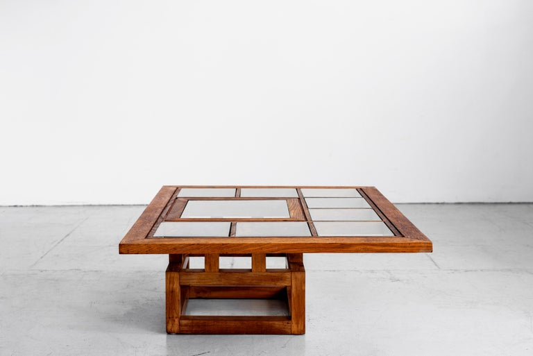 1940s French Oak Coffee Table In Good Condition For Sale In Los Angeles, CA
