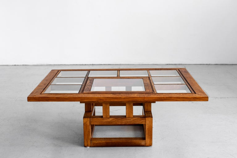 20th Century 1940s French Oak Coffee Table For Sale