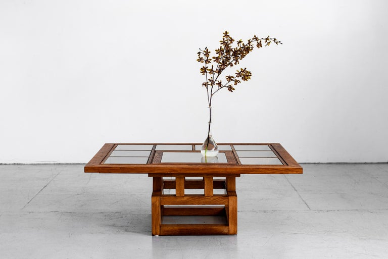 1940s French Oak Coffee Table For Sale 3
