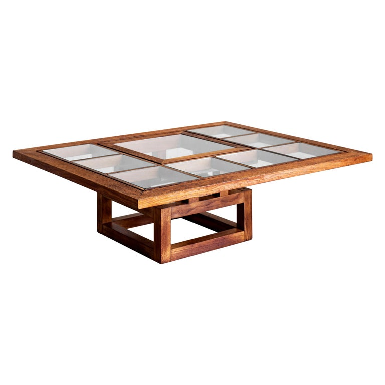 1940s French Oak Coffee Table For Sale