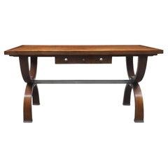 1940s French Oak Desk