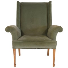 1940s French Oversized Wingback Chair
