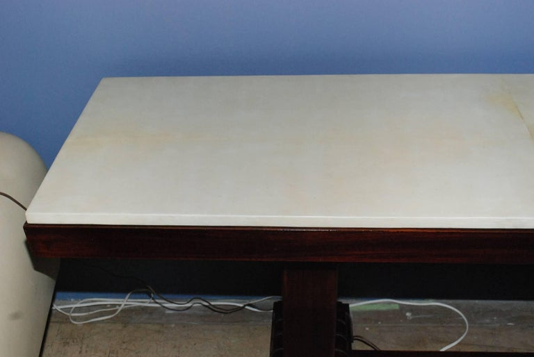 Art Deco 1940s French Parchment Console Table For Sale