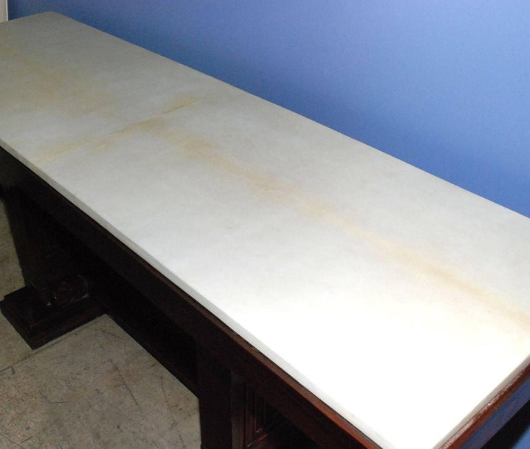Mid-20th Century 1940s French Parchment Console Table For Sale