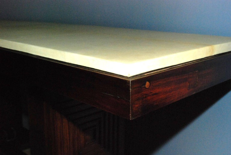 1940s French Parchment Console Table For Sale 1