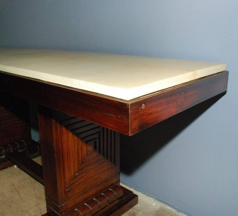 1940s French Parchment Console Table For Sale 2