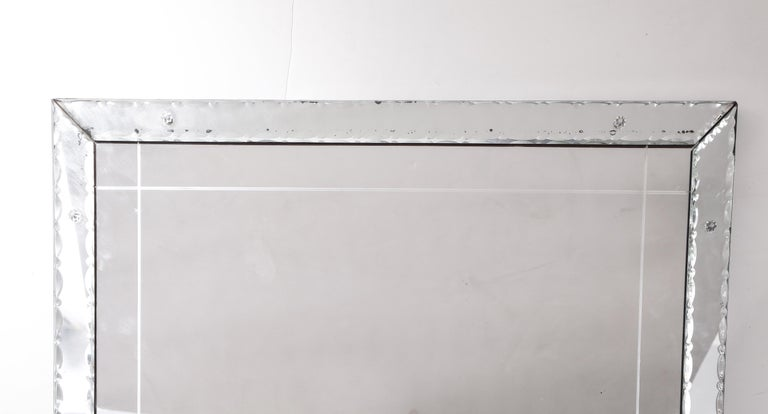 1940s French Pie Crust Full Length Mirror For Sale 5