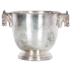 1940s French Silver Plated Horse Ice Bucket