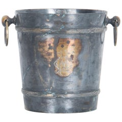 1940s French Silver Plated Initialed Ice Bucket