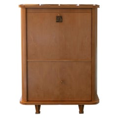 1940's French Sycamore Secretary