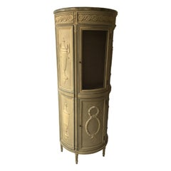 1940s French Tall Demilune Cupboard