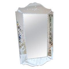 1940s French Venetian Wall Mirror
