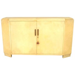 1940's French White Parchment Sideboard