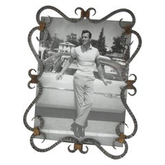 1940s French Wrought Iron Picture Frame
