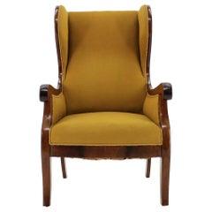 1940s Frits Henningsen Mahogany Wingback Armchair, Denmark