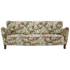 1940s Fritz Hansen 1669A Three-Seat Sofa, Denmark