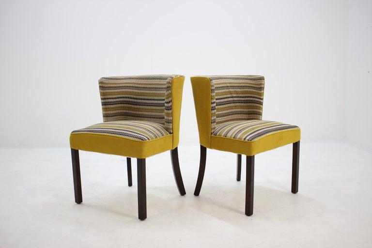 Mid-Century Modern 1940s Fritz Hansen Armchair, Set of 2 For Sale