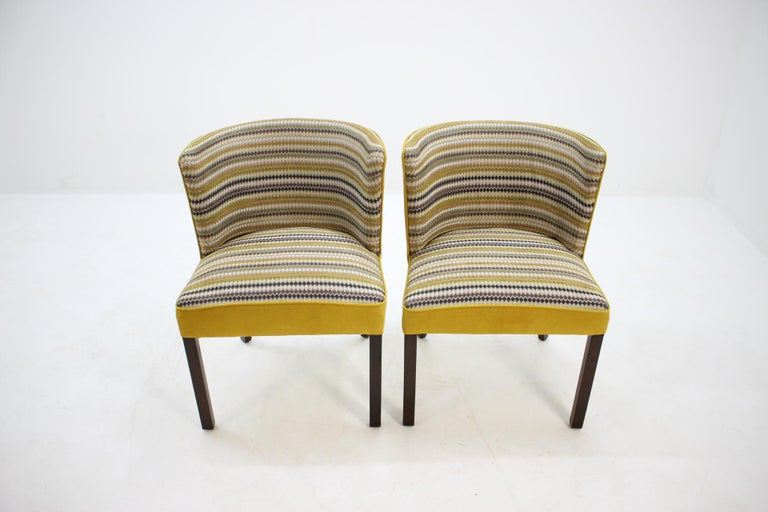 Fabric 1940s Fritz Hansen Armchair, Set of 2 For Sale