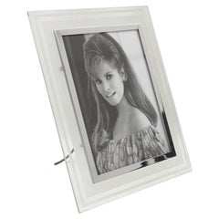 1940s Frosted Glass Large Picture Frame
