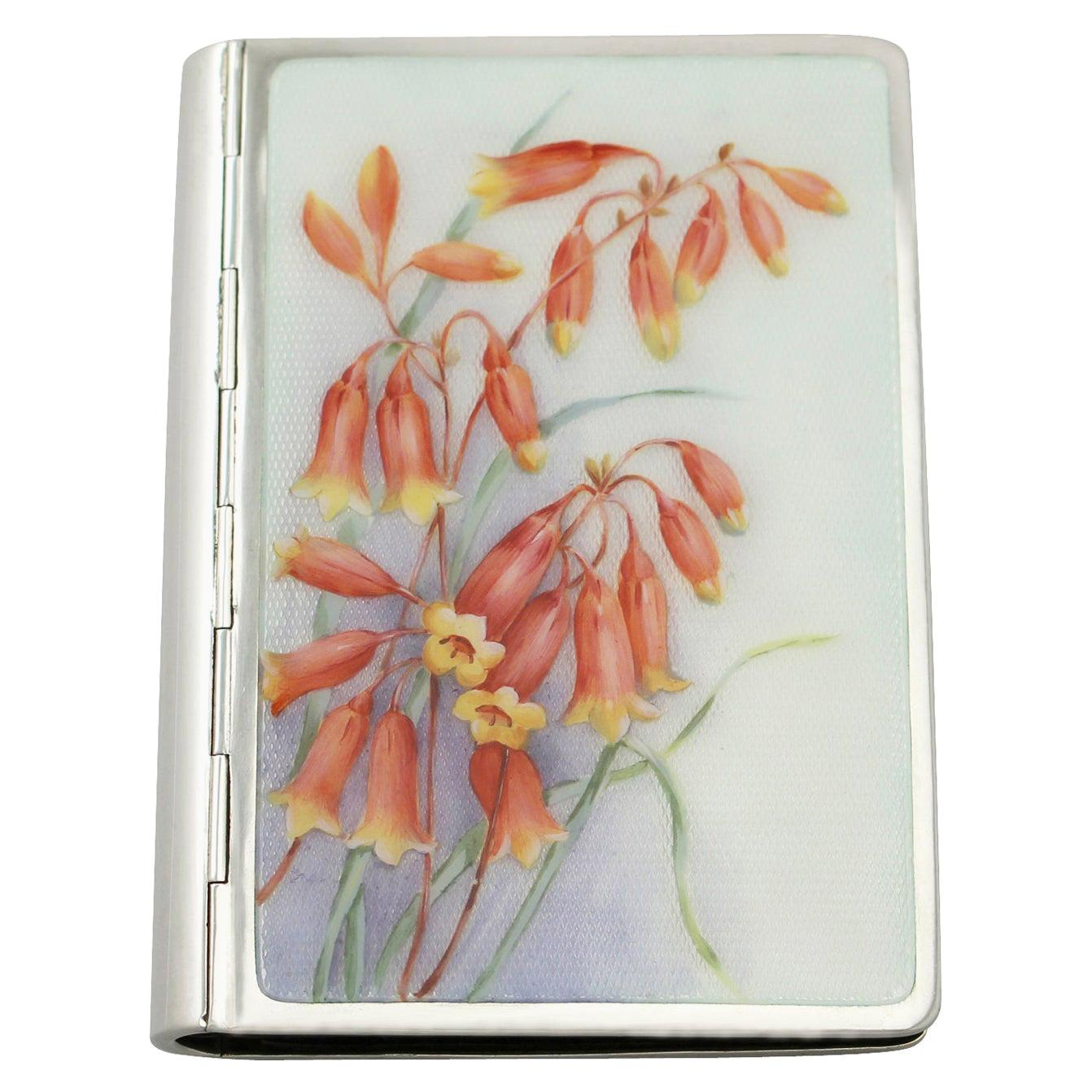 1940s German Silver and Enamel Card Case
