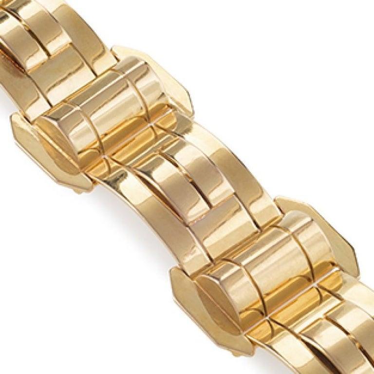 Women's 1940s Gold Bracelet For Sale