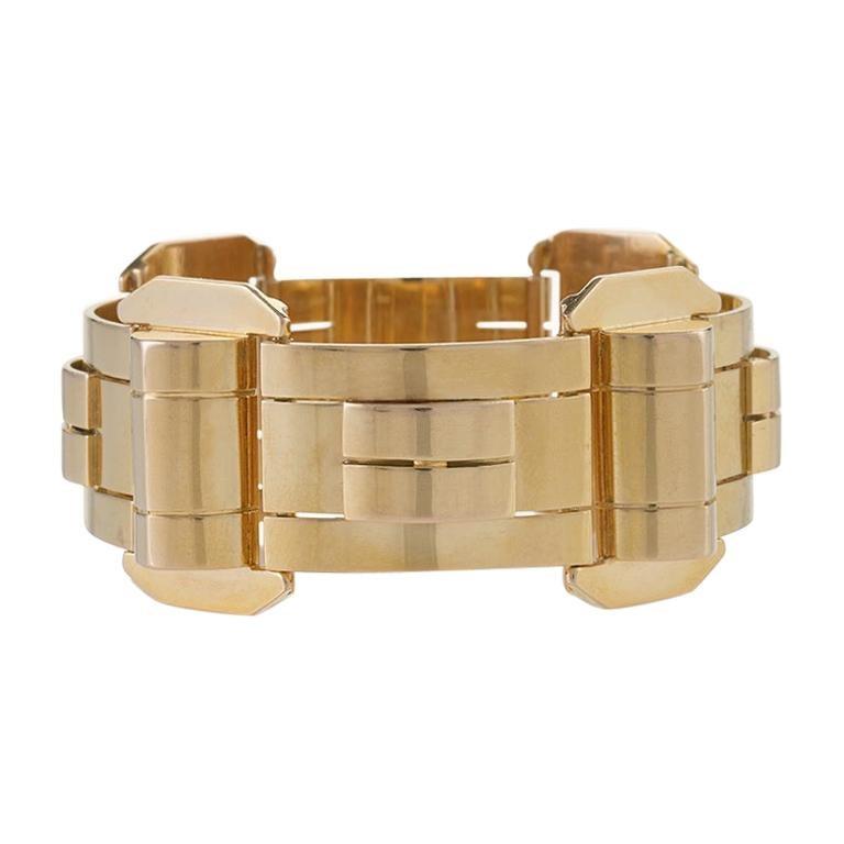 Vertical Gold Link Bracelet