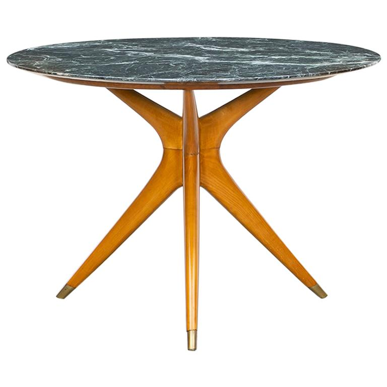 1940s Green Round Marble Table by Ico Parisi