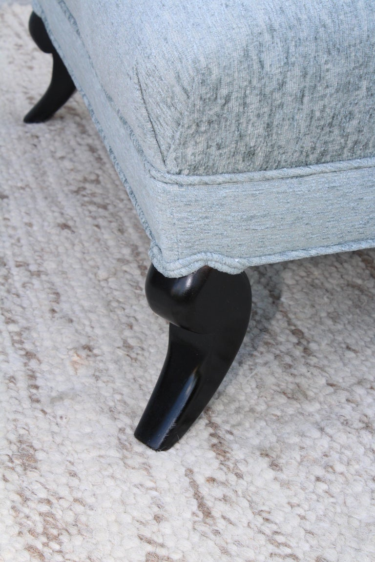 1940s Grosfeld House Attributed Slipper Lounge Chair For Sale 3