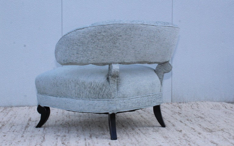 1940s Grosfeld House Attributed Slipper Lounge Chair For Sale 4
