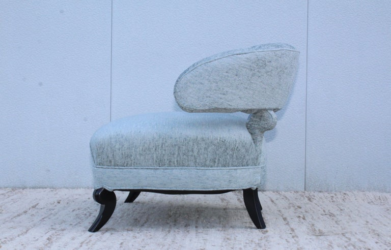 American 1940s Grosfeld House Attributed Slipper Lounge Chair For Sale