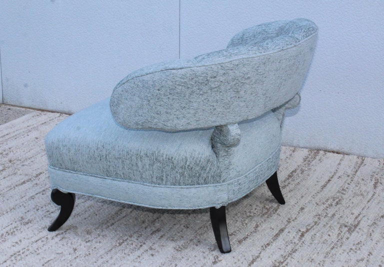 1940s Grosfeld House Attributed Slipper Lounge Chair In Excellent Condition For Sale In New York City, NY