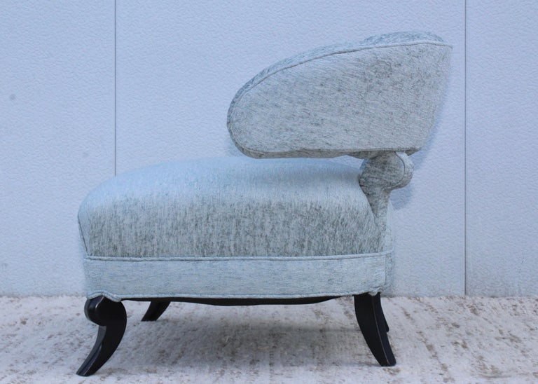 Mid-20th Century 1940s Grosfeld House Attributed Slipper Lounge Chair For Sale
