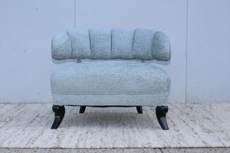 1940s Grosfeld House Attributed Slipper Lounge Chair For Sale 1