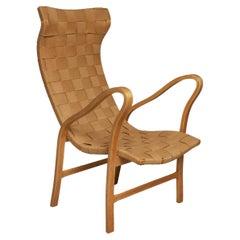 1940's Gustaf Axel Berg ''Torparen'' Chair in Birch Plywood and Hemp