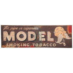 1940s Hand-Painted Model Tobacco Sign