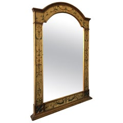 1940s Hand Painted Wood Adams Style Mirror