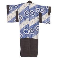 1940s Hand Tie-Dyed Japanese Kimono