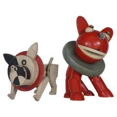 1940s Handmade Toy Dogs